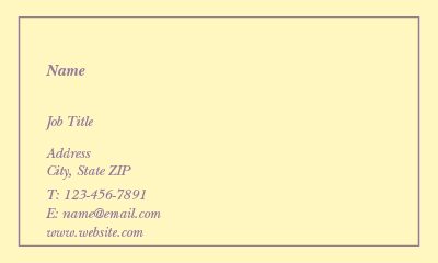 Picture of Occasions Business Card 2