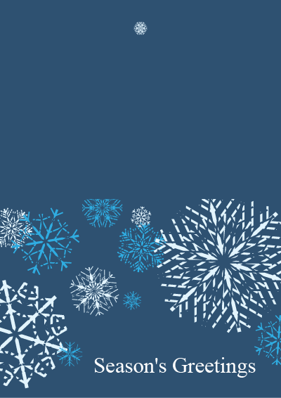 Picture of Holiday Card Snowflake