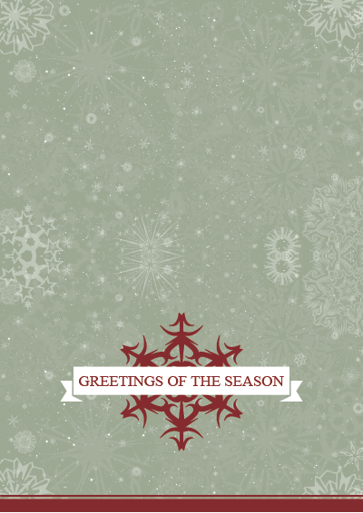 Picture of Holiday Card Red Snowflake