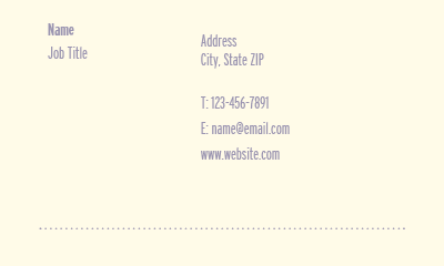 Picture of Recreation Business Card 2
