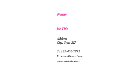Picture of Beauty Business Card 4