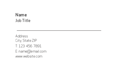 Picture of For Everyone Business Card 1