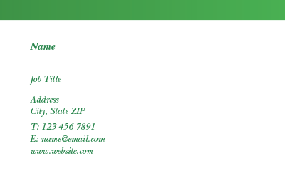 Picture of Horticulture Business Card 5